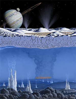 Artist concept of hydrothermal vents