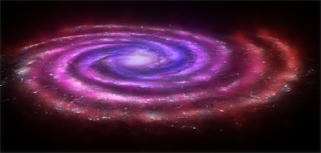artist rendition of a galaxy