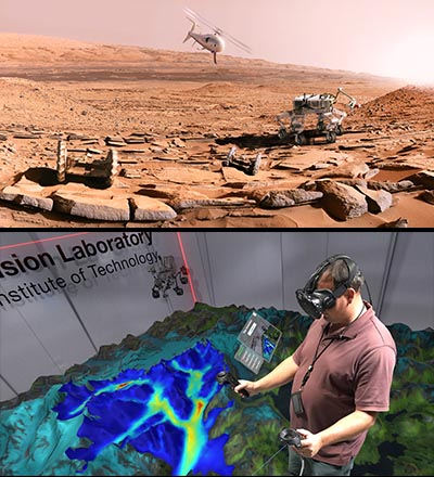 Mars rovers and Earth visualization tools