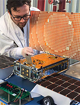 Tests on MarCO spacecraft