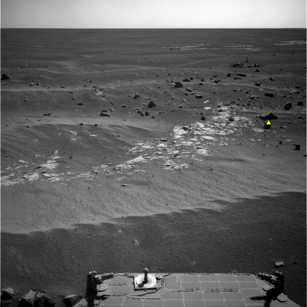 Image of Image Analyzed by Mars Rover for Selection of Target