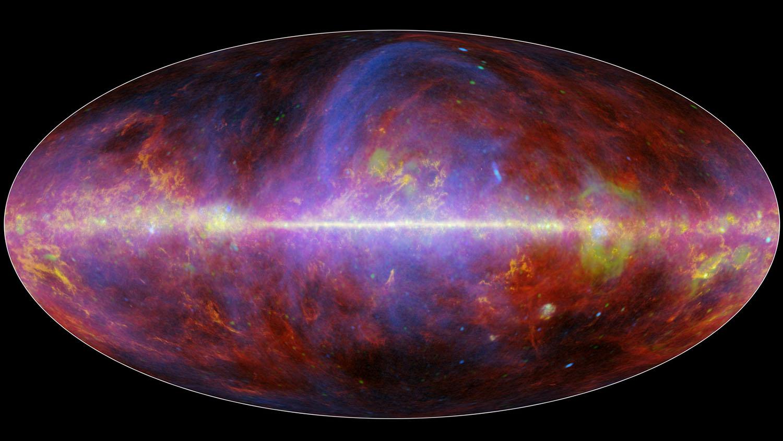 A festive portrait of our Milky Way galaxy