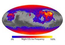 Image of Night CO2 ice frequency