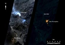 Artificial intelligence onboard NASA's Earth Observing 1 (EO-1) spacecraft assisted in imaging an eruption at Erta'Ale volcano, Ethiopia