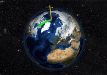 Image of Earth does not always spin on an axis running through its poles