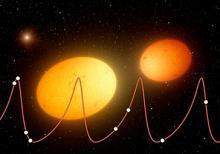Artist depiction of heartbeat stars