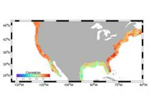 Correlations in U.S. coastal sea level rise between the new sea level indicator tool and reconstructed decade-scale estimates of sea level