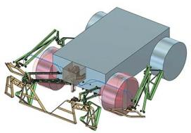 """This 3D model shows the system behind the second-place concept """"Skid n' Bump - All-mechanical, Mostly Passive"""" by Team Rovetronics, based in California"""