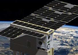 Cubesat in flight
