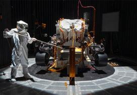 Engineer with Mars rover