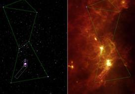 Infrared spotlight on Orion's sword