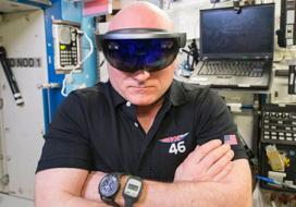 Astronaut with VR goggles