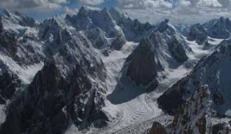 Glaciers in the Karakoram Range of Pakistan