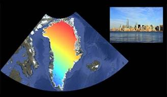The contribution of melting ice in Greenland